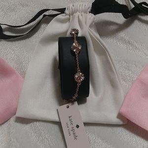 Kate Spade gold overlay Lady Marmalade bracelet